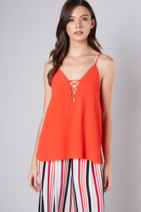 Ruby criss cross detail top