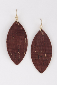 Gold burgundy earrings