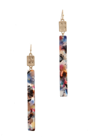 Rainbow bar drop earrings