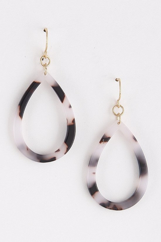 Light brown acetate earrings