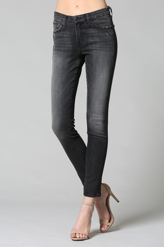 Mid rise gray jeans