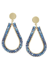 Tis the season earrings blue