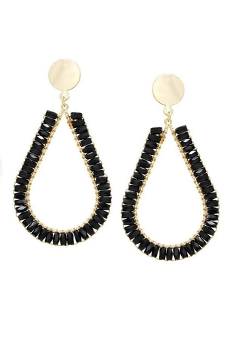 Tis the season earrings black