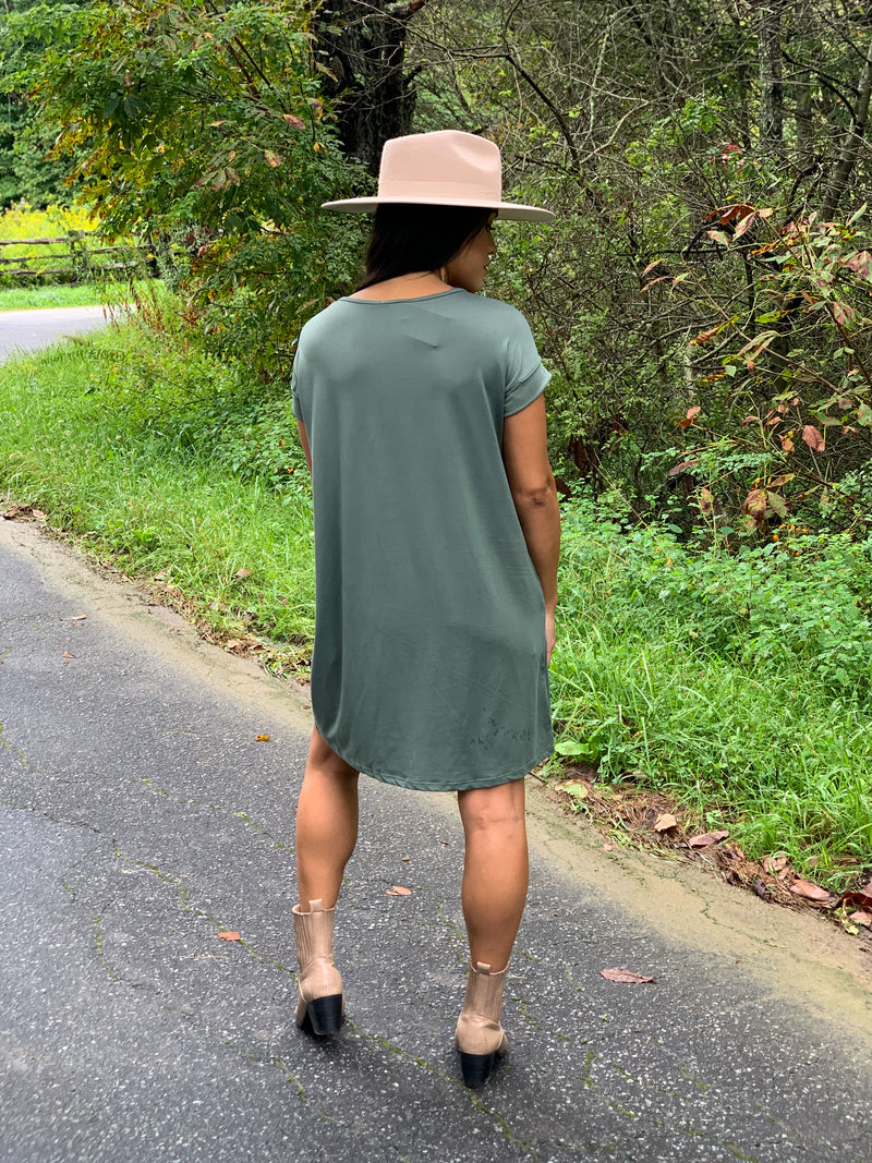 Cool living dress olive
