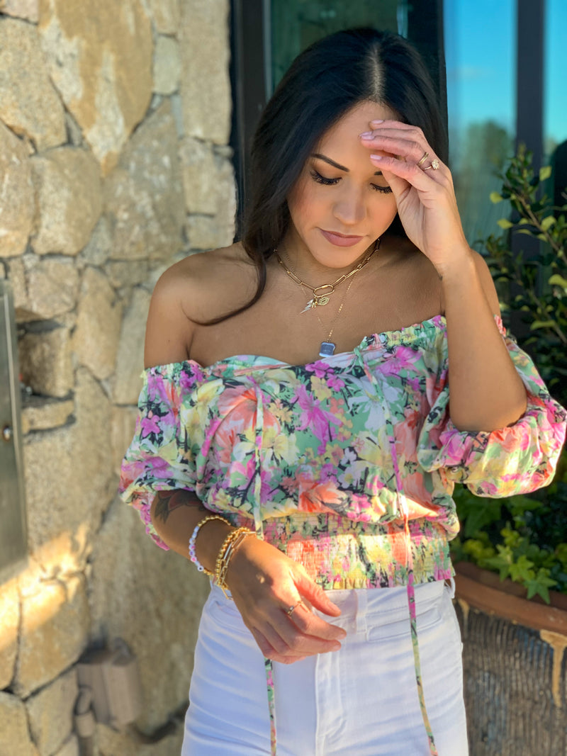 Wild wishes floral top