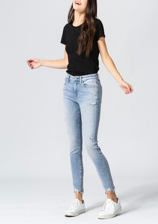 Midnight mid rise jeans