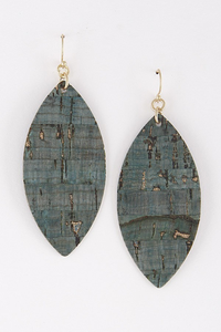 Gold teal earrings