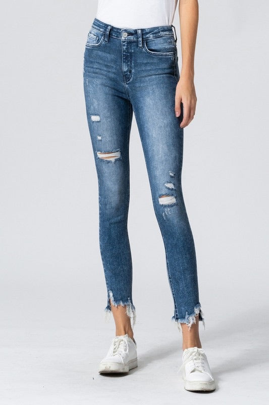 Luxe high rise jeans