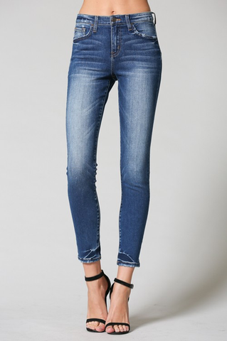 High rise no distress skinny jeans
