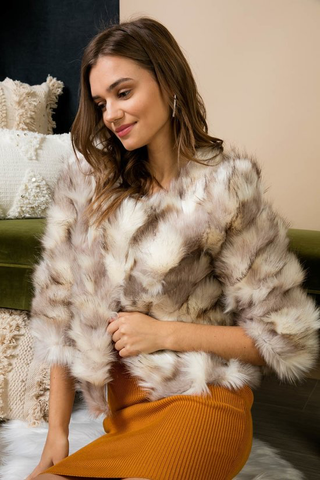 Fuzzy crop coat