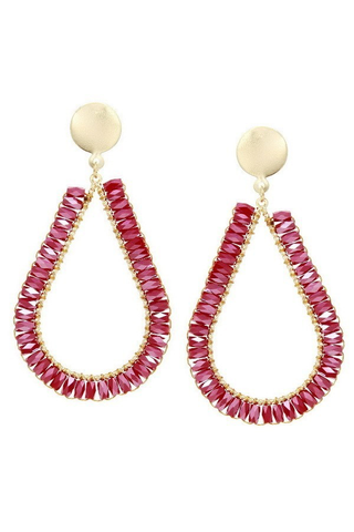 Tis the season earrings red