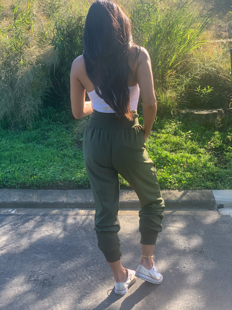 Fall love joggers olive