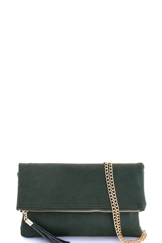Olive clutch/crossbody