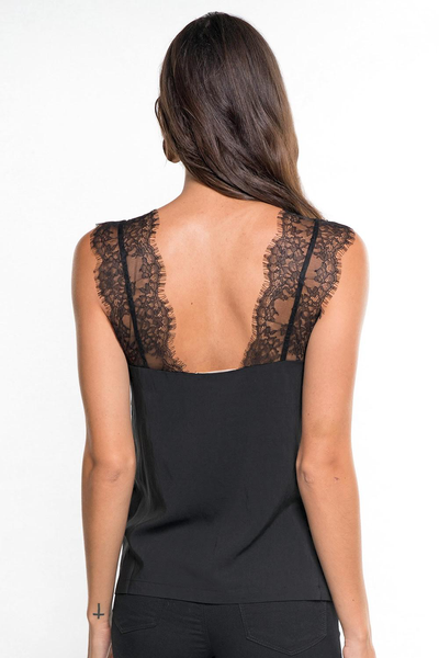 Black lace cami