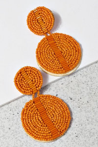 Miami earrings orange