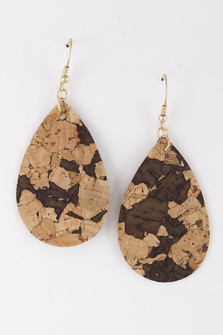 Natural teardrop earrings