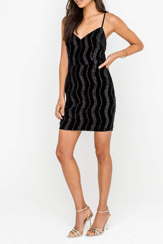Black detail dress