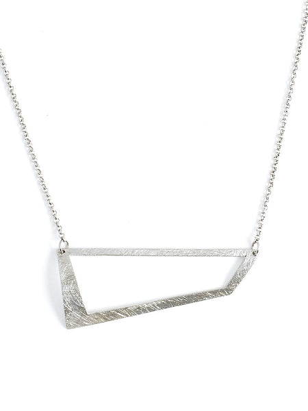 Silver angle necklace