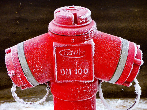 Frozen Fire Fighting Water Safety Hydrant
