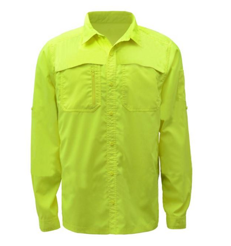 Non-ANSI New Designed Lightweight Ripstop Bottom Down Shirt w SPF 50+