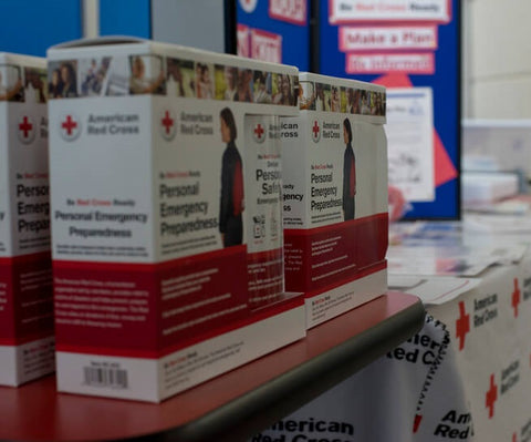 boxes of red cross safety kit