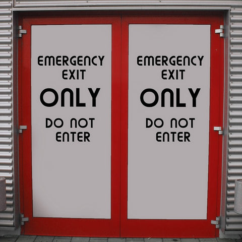emergency exit output door