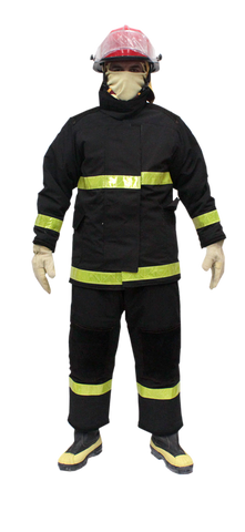 firefighter wearing safety clothing
