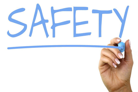 hand writing the word safety