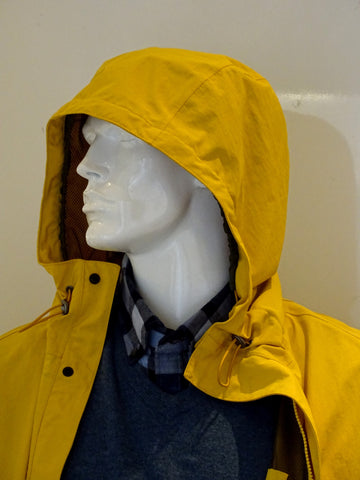 hooded raincoat in a mannequin
