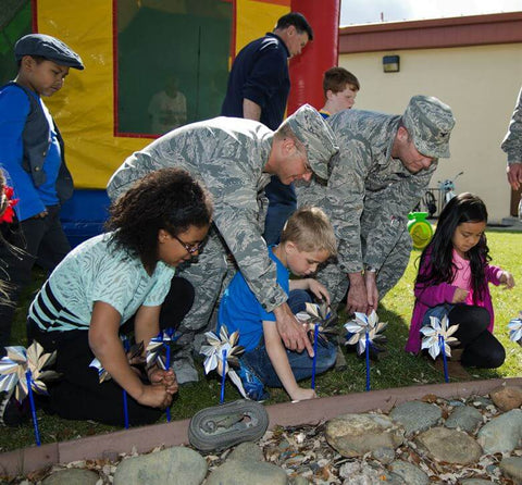 military personnel training kids