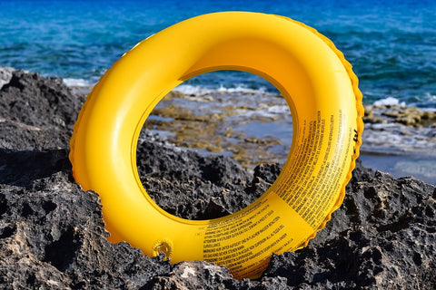 yellow life vest or tire