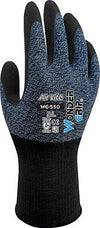 Wonder Grip: WG-550 Air Lite Safety Gloves, Light Duty, Nitrile Single Palm Coating For Dry Environment (XXL, Blue, 2 pairs)