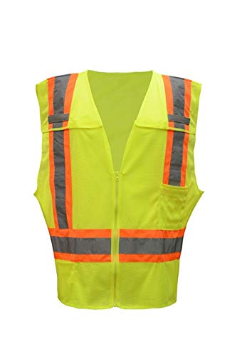 Brite Safety High Visibility Two Tone FR Treated Breakaway Vest - ANSI 2, NFPA 701 Certified Safety Vests for Men and Women (Medium)