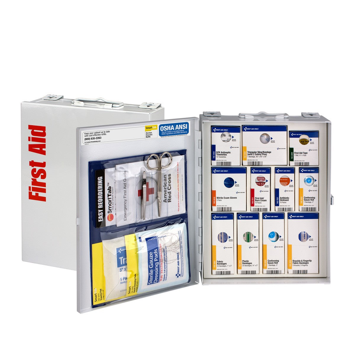 25 Person Medium Metal SmartCompliance First Aid Cabinet Without Medications