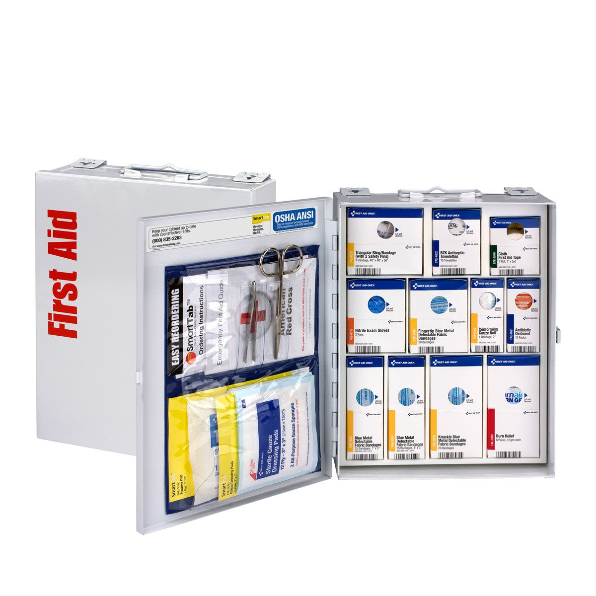 25 Person Medium Metal SmartCompliance Food Service First Aid Cabinet Without Medications