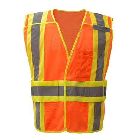 Brite Safety Expandable Breakaway Vest - ANSI 2 Compliant High Visibility Safety Vests (M/2XL, Orange)