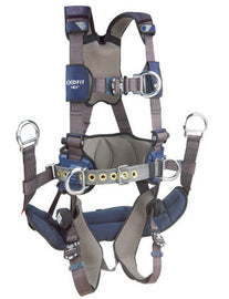 3M™ DBI-SALA® X-Large ExoFit NEX™ Full Body/Vest Style Harness With Tech-Lite™ Aluminum Back And Front D-Ring, Duo-Lok™ Quick Connect Leg And Chest Strap Buckle, Belt With Pad, Torso Adjuster, Back And Leg Comfort Padding, Seat Sling With Suspension