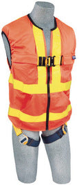 3M™ DBI-SALA® 2X Delta™ Hi-Vis Reflective Work Vest Style Harness With Back D-Ring And Quick Connect Buckle Leg Strap