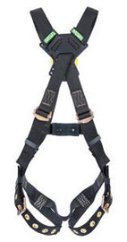 MSA Super X-Large Workman® Arc Flash Cross Over Harness With Back Web Loop And Qwik-Fit Leg Straps