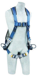 3M™ DBI-SALA® Medium ExoFit™ Full Body/Vest Style Harness With PVC Coated Back, Side And Front D-Rring, Quick Connect Leg Strap Buckle, Lanyard Keeper And Built-In Comfort Padding