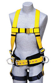 3M™ DBI-SALA® Large Delta™ Construction/Full Body/Vest Style Harness With Stand Up Rear And Side D-Rings, Pass Thru Buckle Leg Strap And Body Belt With Pad