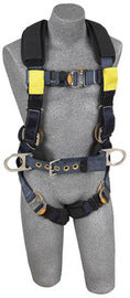 3M™ DBI-SALA® Large ExoFit™ XP Arc Flash Construction/Full Body/Vest Style Harness With Back And Front Web Rescue Loop, Belt With Pad And Side D-Ring, Quick Connect Chest And Leg Strap Buckle, Leather Insulators And Nomex®/Kevlar® Comfort Padding