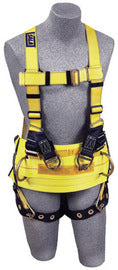 3M™ DBI-SALA® Large Delta™ Derrick Style Harness With Back And Lifting D-Rings, Tongue Buckle Legs And Derrick Belt With Pass-Thru Connection To Harness