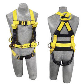 3M™ DBI-SALA® Large Delta™ II Arc Flash Construction Style Harness With Side D-Ring, Quick Connect Buckle Leg Strap, Belt With Hip Pad, Back Web And Front Rescue Loops And Leather Insulators
