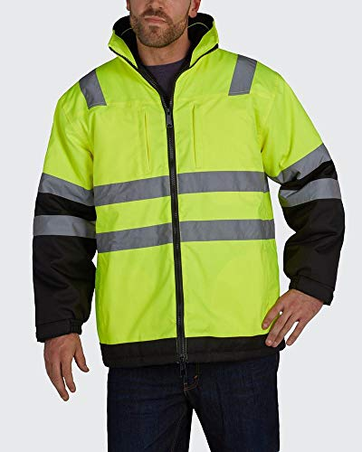 Brite Safety Arctic 3-in-1 Jacket - High Visibility ANSI 3 Safety Jackets with Zip Out Soft Shell Liner
