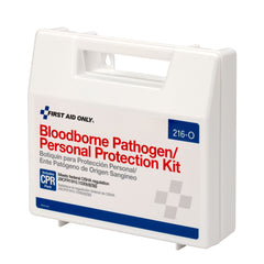 Bloodborne Pathogen (BBP) Spill Clean Up Kit & Personal Protection With CPR Pack, Plastic Case - BS-FAK-216-O-1-FM