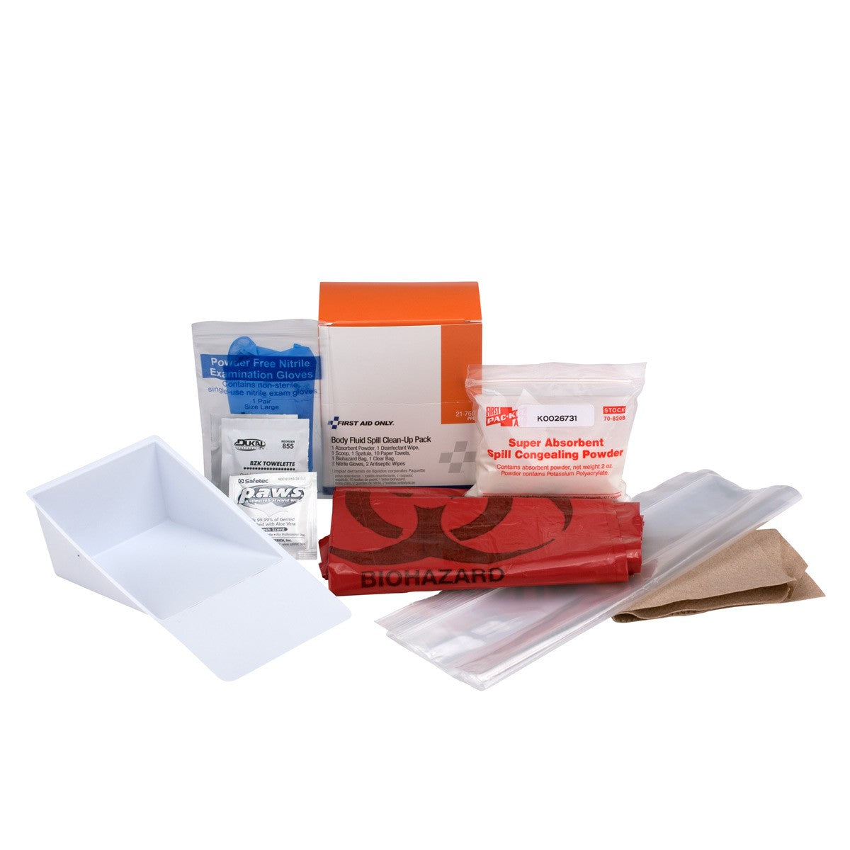Bloodborne Pathogen (BBP) Spill Clean-Up Pack (22 Piece) Pack - BS-FAK-21-760-1-FM