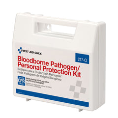 Blood Borne Pathogen (BBP) & Personal Protection And Spill Clean Up Kit With CPR Micro Shield, Plastic Case - BS-FAK-217-O-1-FM