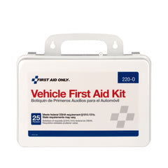 25 Person Vehicle First Aid Kit, Plastic Case - BS-FAK-220-O-1-FM