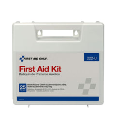 10 Person First Aid Kit, Plastic Case With Dividers - BS-FAK-222-U-1-FM